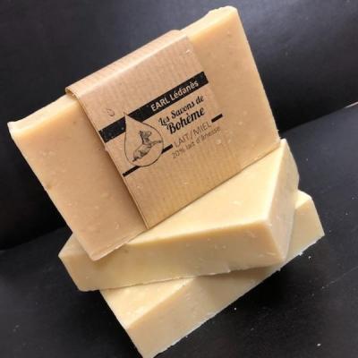 Savon de Bohème lait-miel 20% de lait d' ânesse SANS PARFUM